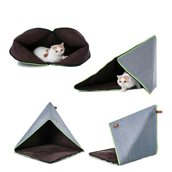 "Cat Triangular Bed Tent ""Doudou"" - Global view"