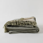 Enes Bed Cover - Olive/Clay