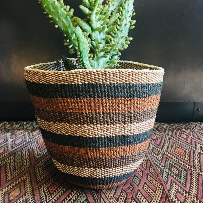 Medium Handwoven Sisal Basket from Kenya