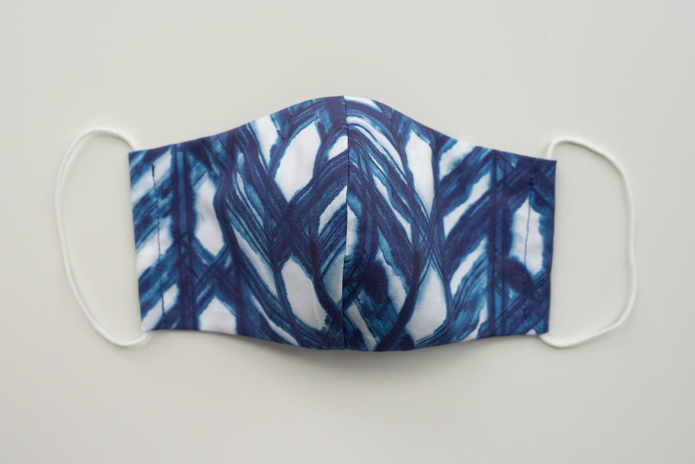 Protective Face Mask - Shibori Lattice