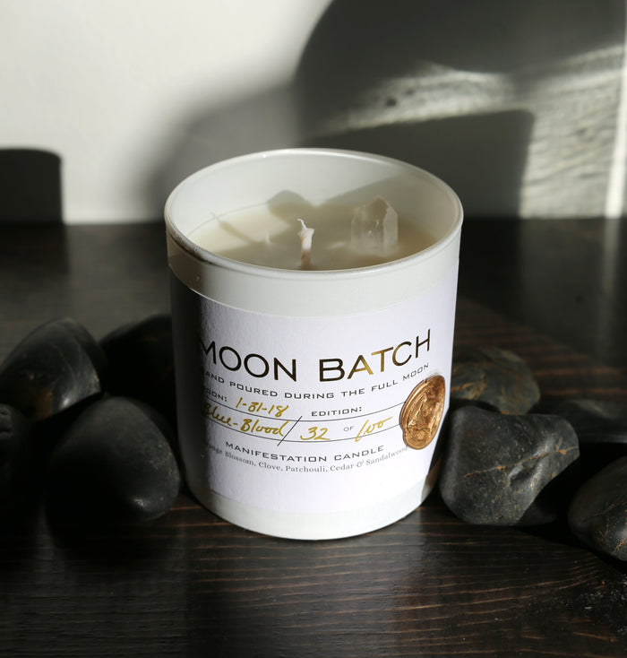 White Label Moon Batch Candle