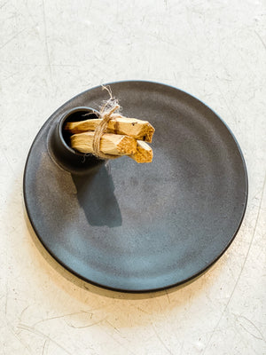 Load image into Gallery viewer, Hand Thrown Palo Santo Plate