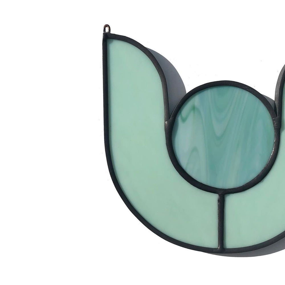 Lotus Stained Glass in Mint