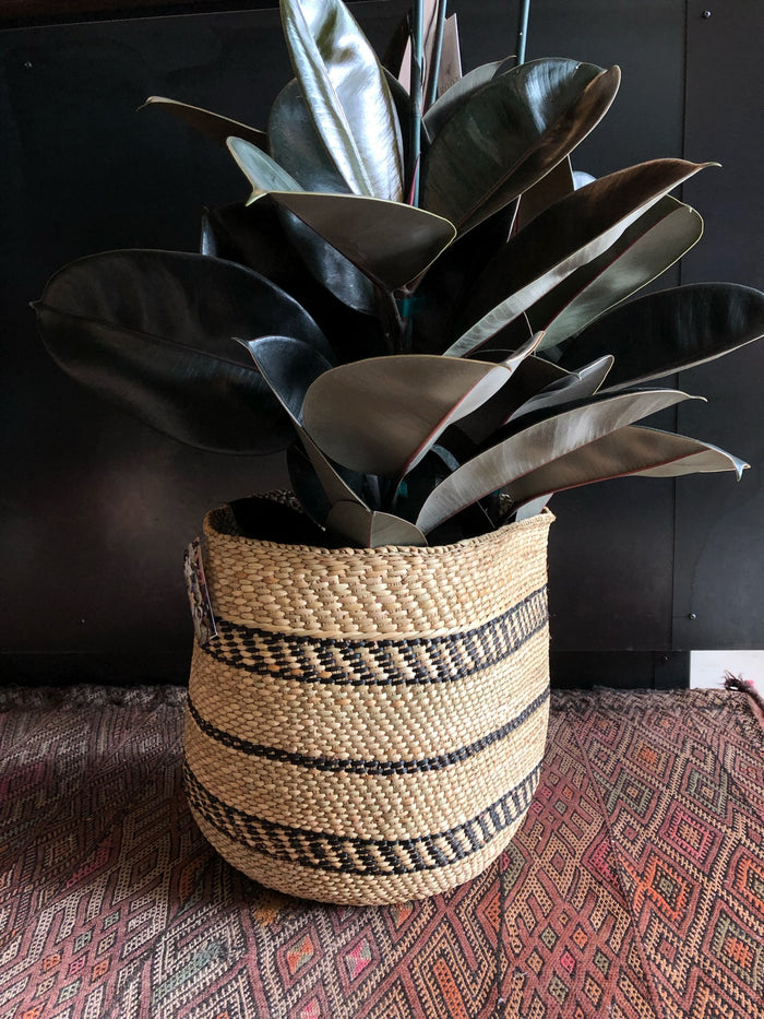 Medium Handwoven Milulu Basket from Tanzania