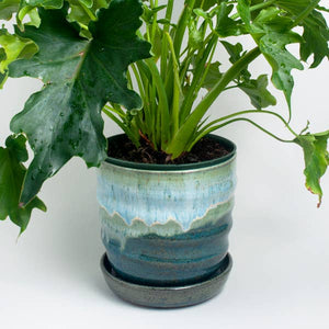 Seafoam Ceramic Planter