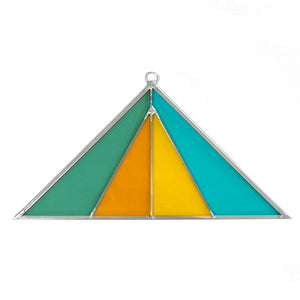 Desert Rainbow Triangle Stained Glass