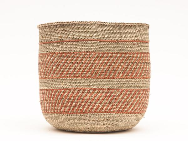 Large Handwoven Milulu Basket from Tanzania