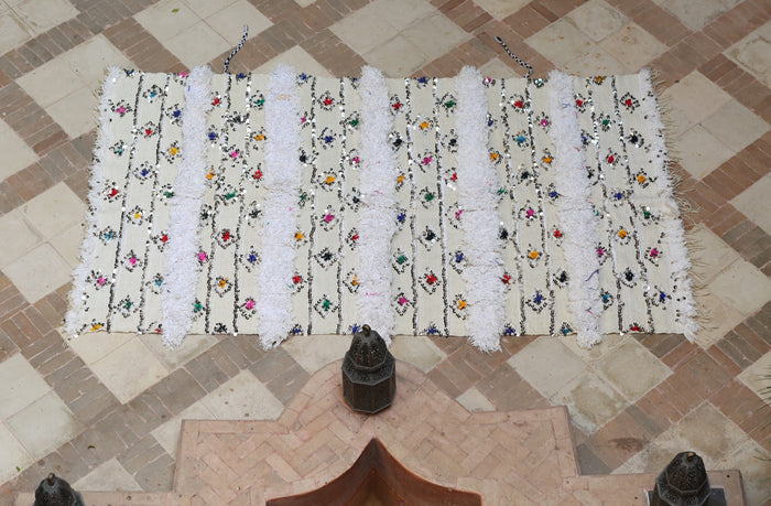 Vintage Handira, Moroccan Wedding Blanket No. 011
