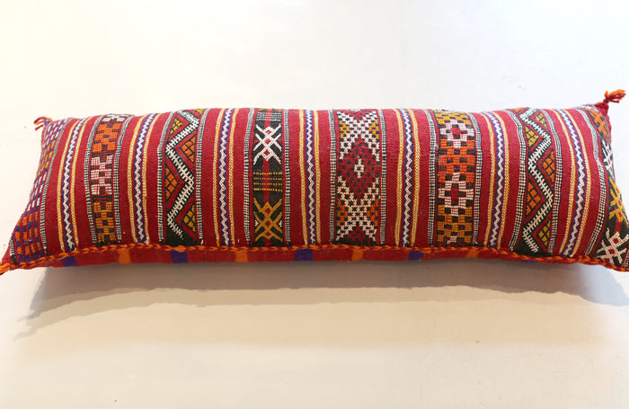 Vintage Moroccan Lumbar Pillow No. 5053