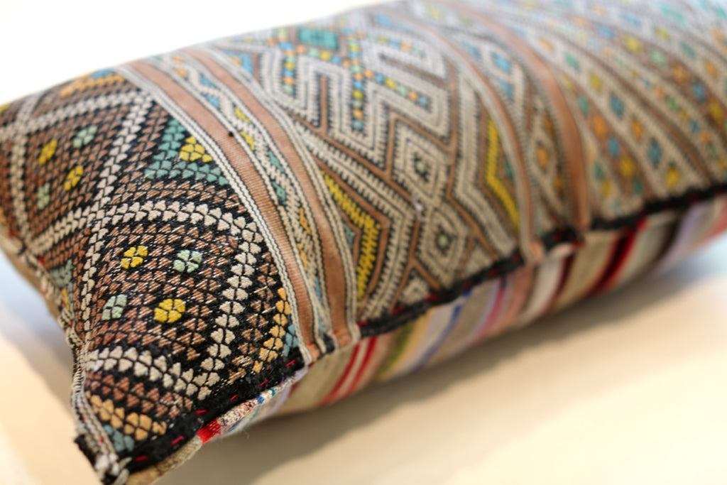 Vintage Moroccan Pillow No. 5045