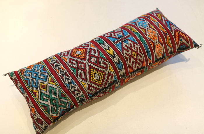 Vintage Moroccan Lumbar Pillow No. 5059
