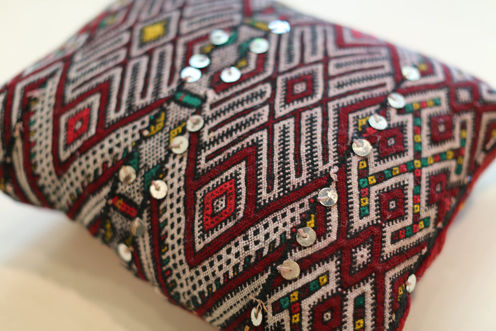 Load image into Gallery viewer, Vintage Moroccan Pillow No. 5072