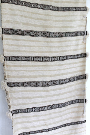 Vintage Handira, Moroccan Wedding Blanket No. 017