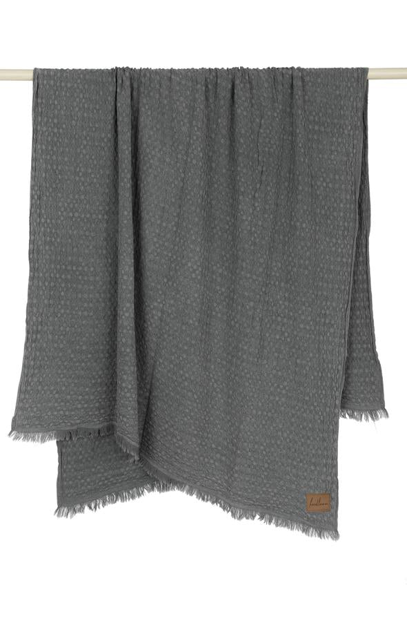 Stone Washed Turkish Waffle Throw Blanket