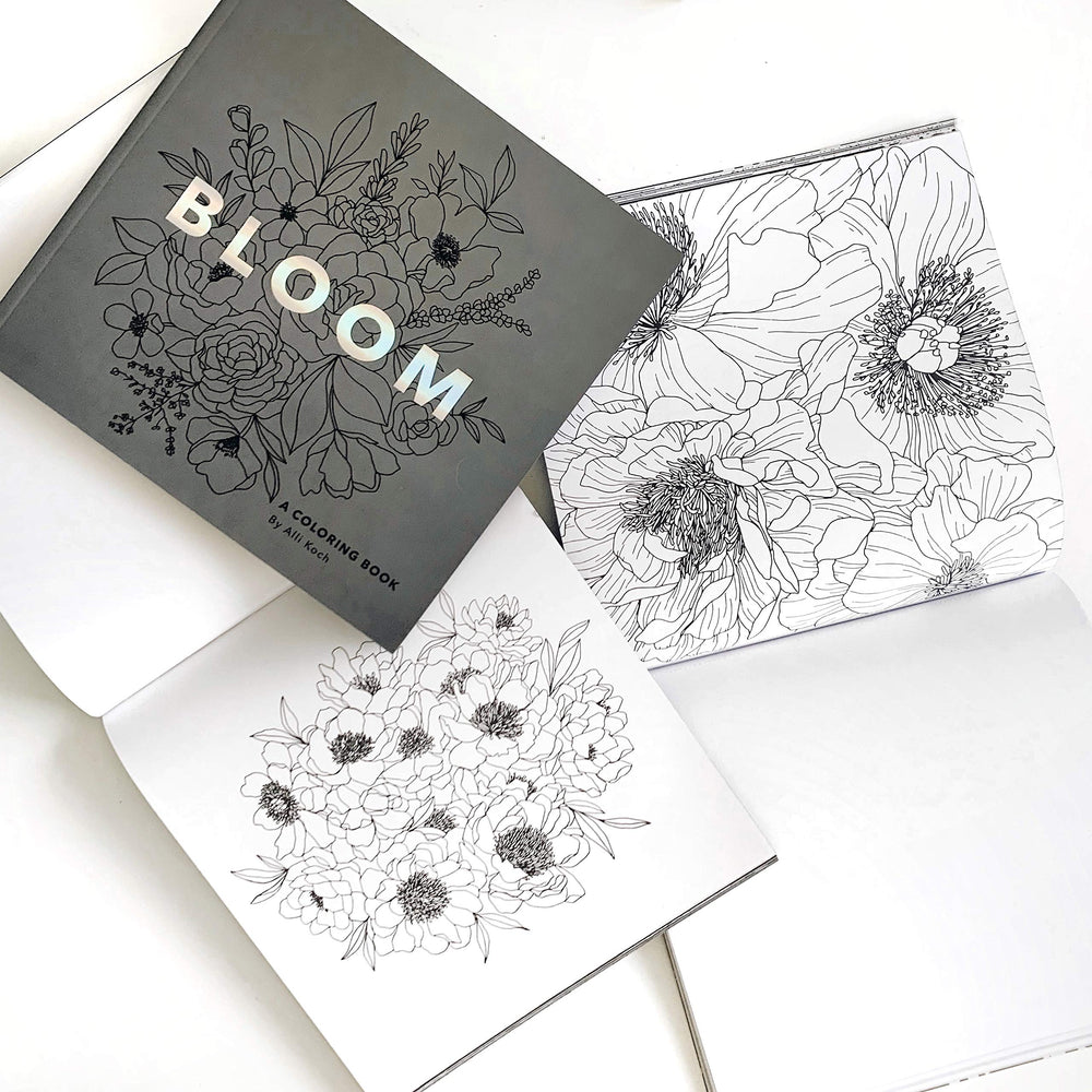 Bloom: A Flower Coloring Book