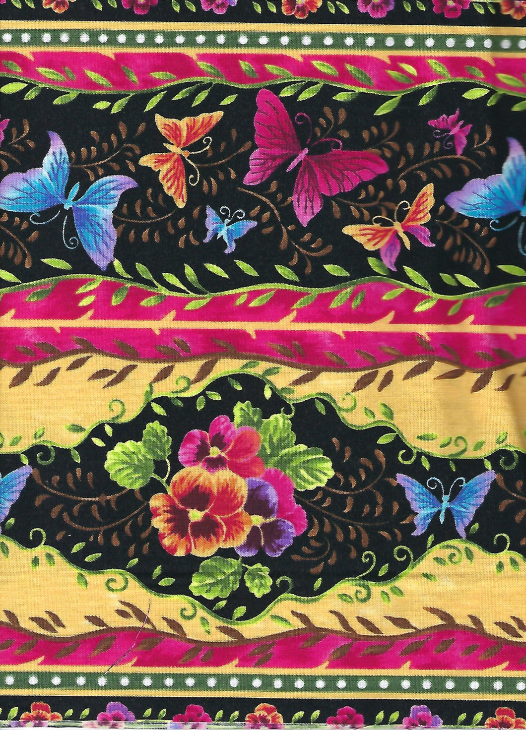 Fabric Kit Runner - Colorful Butterflies
