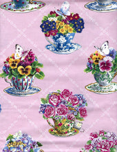Fabric Kit - Pink or Yellow Roses and Teacups