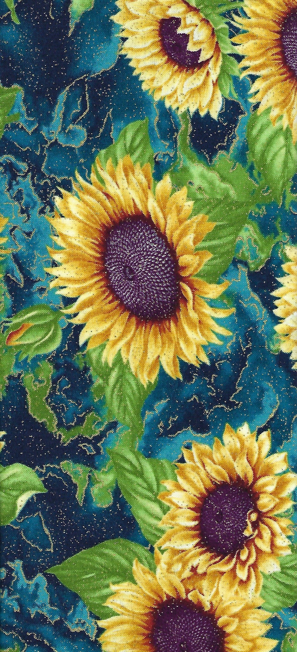 Faric Kit Swirl - Here Comes the Sun by Ann Lauer for Benartex