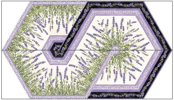 Fabric Kit Swirl - Lavender Market variation