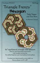 Triangle Frenzy® Hexagon pattern cover by Bunnie Cleland of Artistically Engineered Designs