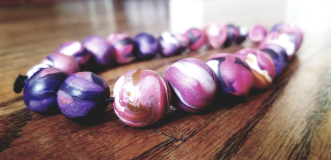 Purple Beaded Handcrafted Necklace