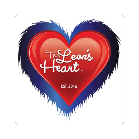 The Leon's Heart Square Sticker (White)