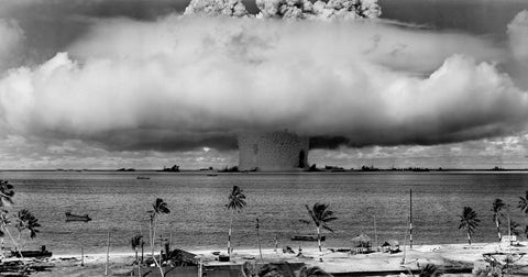 bomb detonating in the ocean