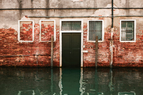 flood water on building wall