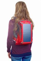 Solar-powered backpack