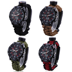 survival watches in four different colors