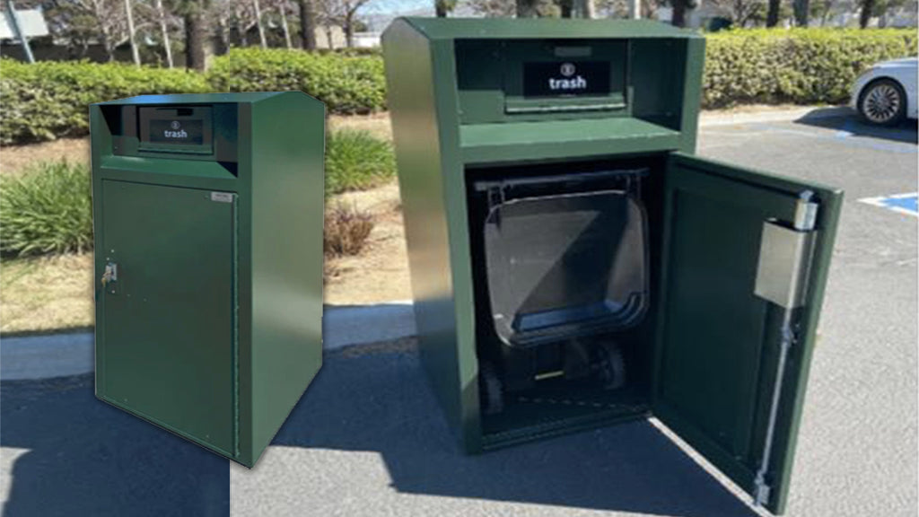 Keep City Streets Looking Great with this Locking Trash Can from Securr