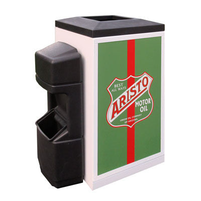 Indoor Convenience Store Advertising Trash Can, Square, 36 Gallon - FX36-ADVERT