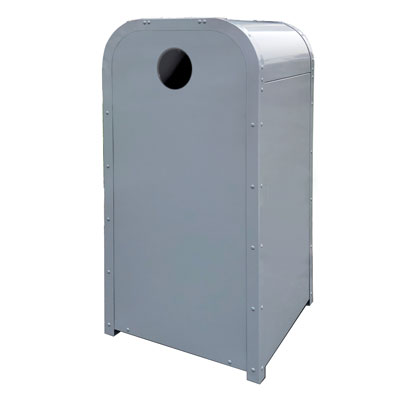 Outdoor Theme Park Style Recycling Can, Powder Coated, 36 Gallon - AP-01-Y