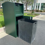 Rodent, Animal, People Resistant Trash Can Bin | ADA Compliant - CE140M-CH
