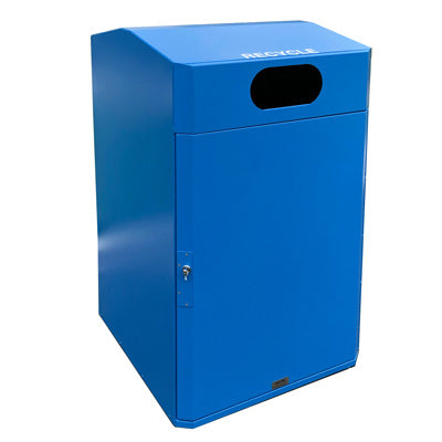 ADA Compliant Outdoor Trash or Recycle Cart Garage, Solid Body or with Panels, Holds One 95 Gallon Poly Cart - CG95-ADA