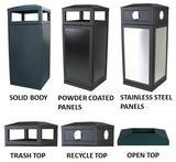 Trash Cans and Recycle Bins, 36 Gallon - HS45