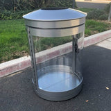 Indoor Trash Can, Round, DHS Compliant, Clear .093 Panels, 55 Gallon - HS55IW-CS.093