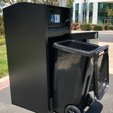 ADA Compliant, Rodent, Animal and People Resistant Trash Can. Locking Trash Can with Loading Chute | Cart Garage - Holds one 35 Gallon Poly Cart - CE135M-CH