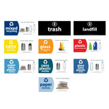 Outdoor Recycle Bin, Square, Advertising Frames on Panels, 36 Gallon - HS45OR-ADVERT