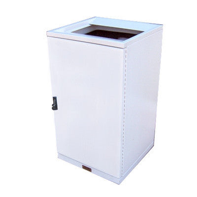 ValueLine Indoor Trash Can, Square, Powder Coated Solid Body, 36 Gallon - VL36IW