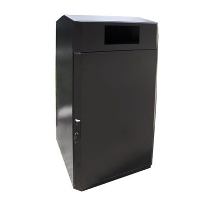 Outdoor Trash or Recycle Cart Garage, Solid Body or with Panels, Holds One 65 Gallon Poly Cart - CG65