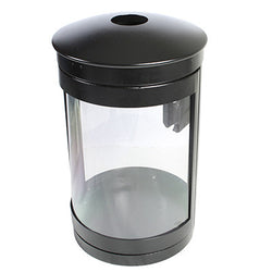 Indoor Recycle Bin, Round, DHS Complaint, Clear .093 Panels, 35 Gallon - HS35IR-CS093