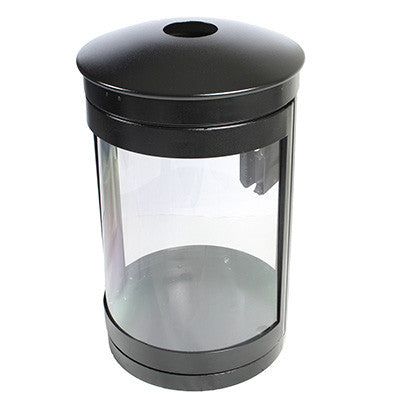 Indoor Recycle Bin, Round, DHS Complaint, Clear .236 Panels, 35 Gallon - HS35IR-CS