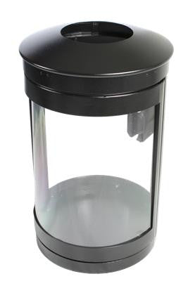 Indoor Trash Can, Round, DHS Complaint, Clear .093 Panels, 35 Gallon ...