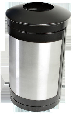 Indoor Trash Can, Round, DHS Complaint, Clear .236 Panels, 35 Gallon - HS35IW-CS