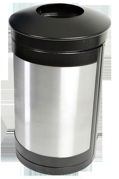 Indoor Trash Can, Round, DHS Compliant, Clear .236 Panels, 35 Gallon - HS35IW-CS
