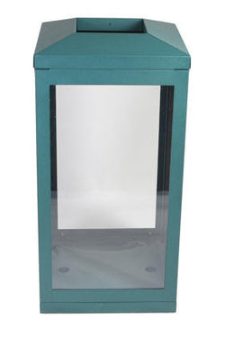 Indoor Trash Can, Square, Outward Sloping Top, DHS Complaint, Clear .236 Panels, 45 Gallon - HS45IW-OS-CS