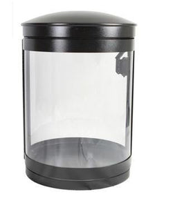 Indoor Recycle Bin, Round, DHS Complaint, Clear .093 Panels, 55 Gallon - HS55IR-CS.093