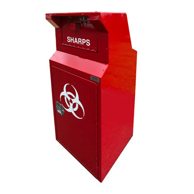 ADA Compliant Outdoor Sharps Disposal Bin, 38 Gallons - CE138ADA-S
