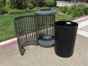 decorative indoor trash cans.  Indoor Outdoor Trash Can Round Decorative Slatted Sides 32 Gallon TRD32